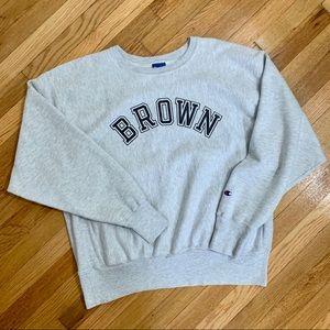 Vintage Champion Reverse Weave Brown University